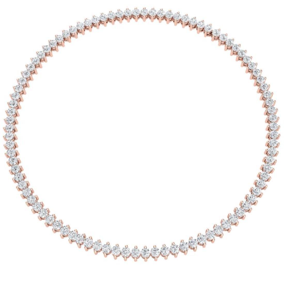 20 CTW Certified VS/SI Diamond Necklace 18K Rose Gold - 3