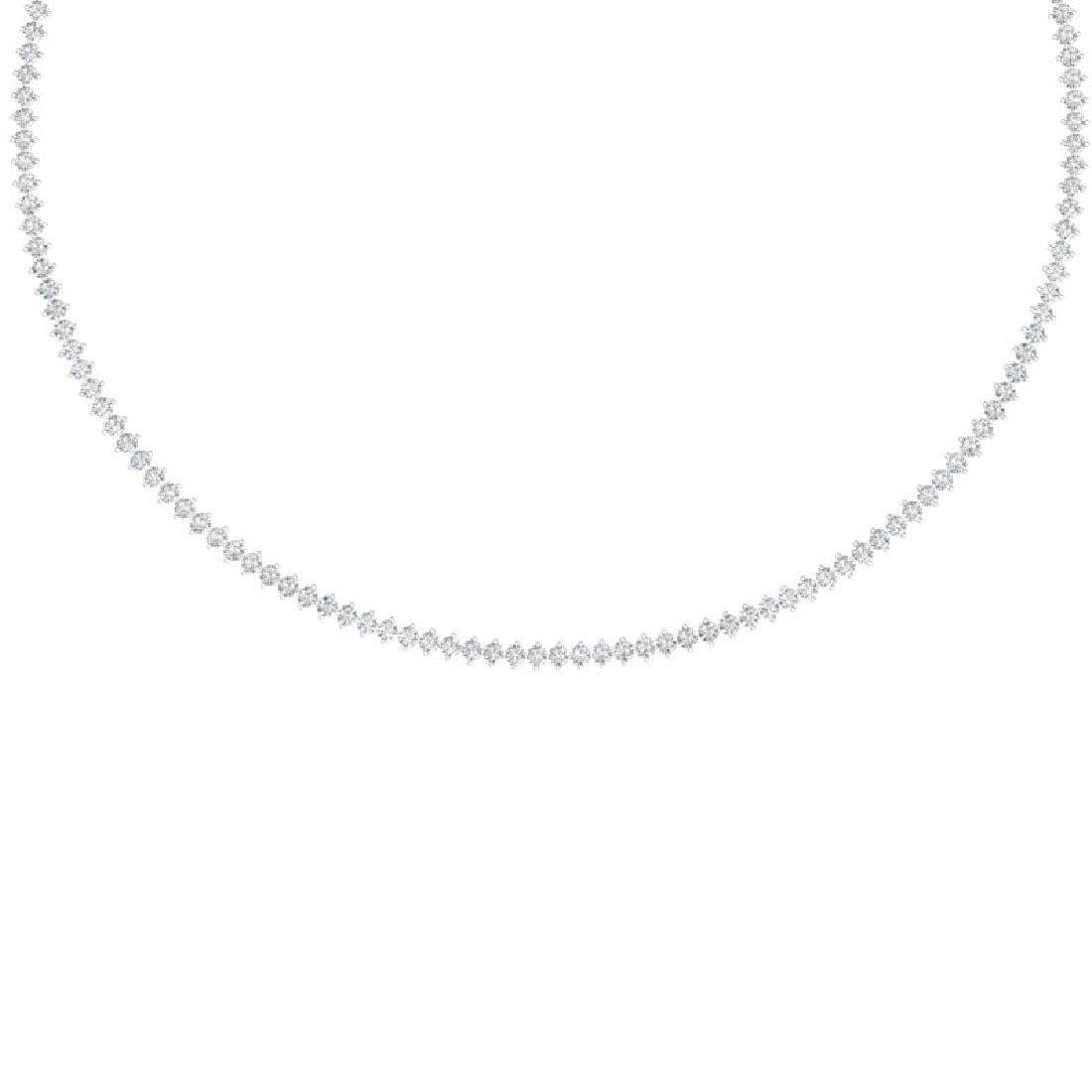 10 CTW Certified SI/I Diamond 2 Prong Necklace 18K