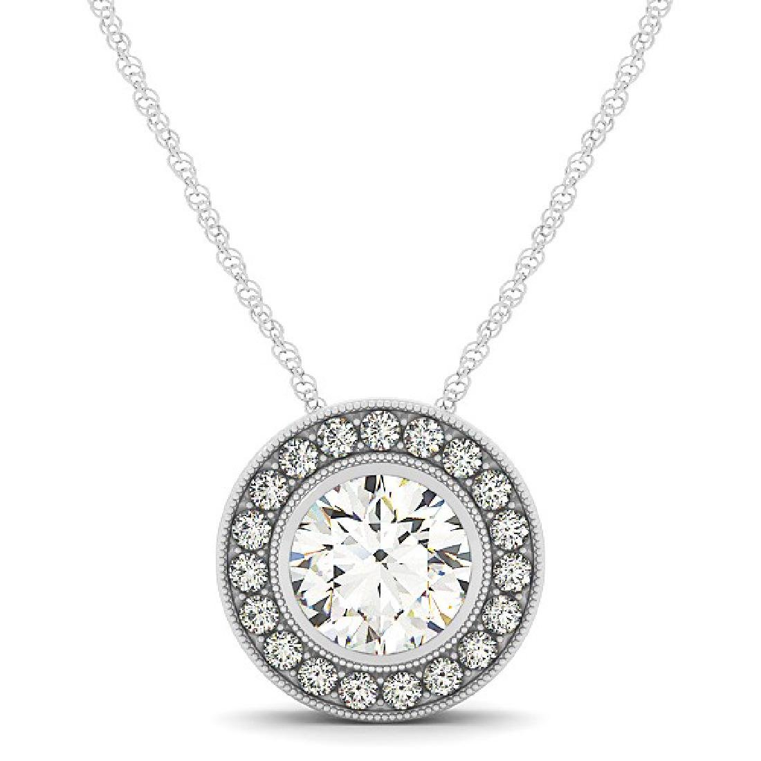 2.25 CTW Certified SI Diamond Solitaire Necklace 14K - 2