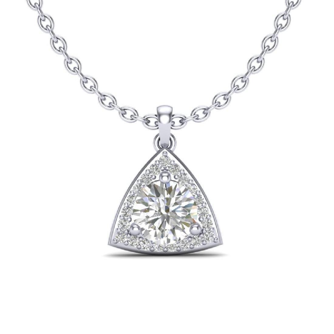 1.50 CTW VS/SI Diamond Necklace 18K White Gold