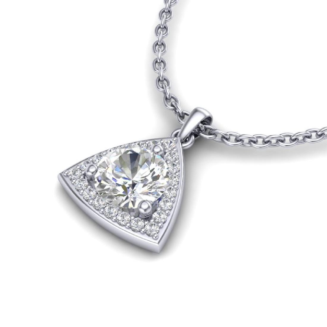 1.50 CTW VS/SI Diamond Necklace 18K White Gold - 2
