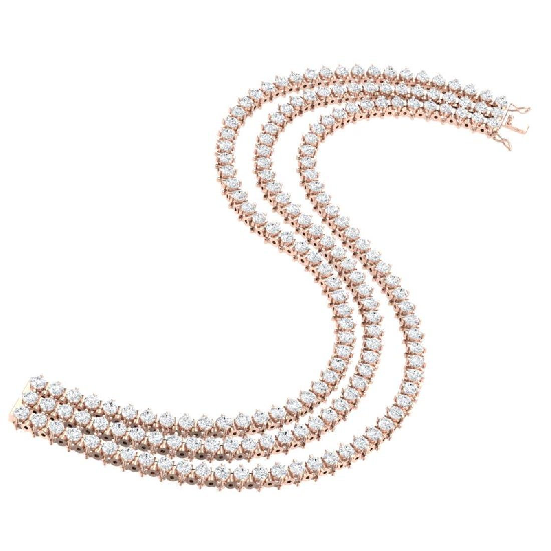 10 CTW Certified SI/I Diamond 2 Prong Bracelet 18K Rose