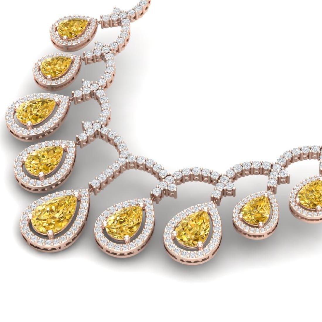 29.42 CTW Royalty Canary Citrine & VS Diamond Necklace - 2
