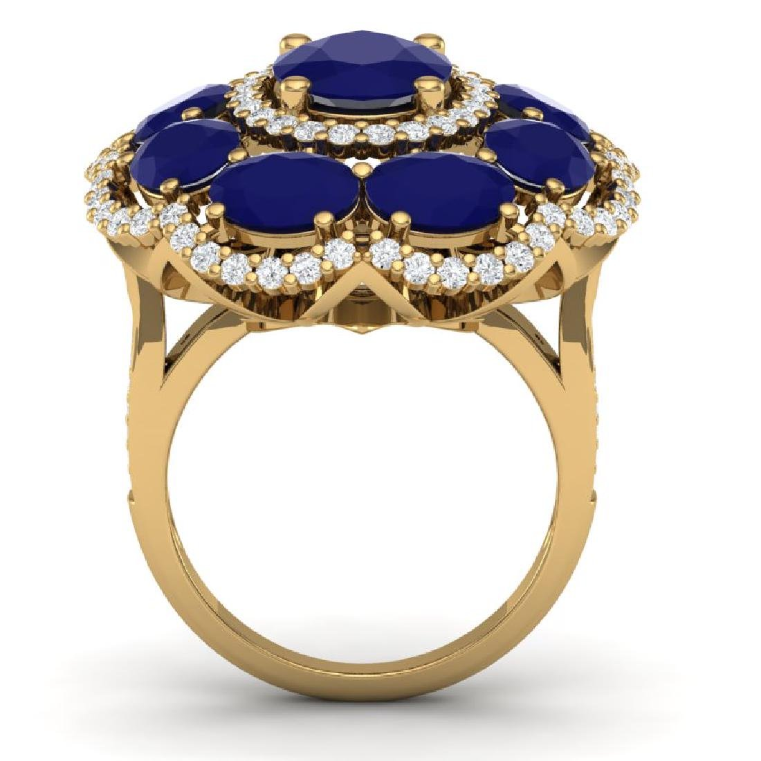 14.4 CTW Royalty Designer Sapphire & VS Diamond Ring - 3