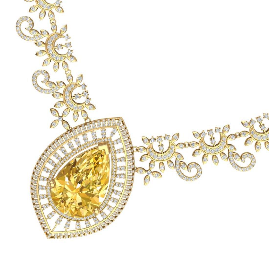 53.17 CTW Royalty Canary Citrine & VS Diamond Necklace