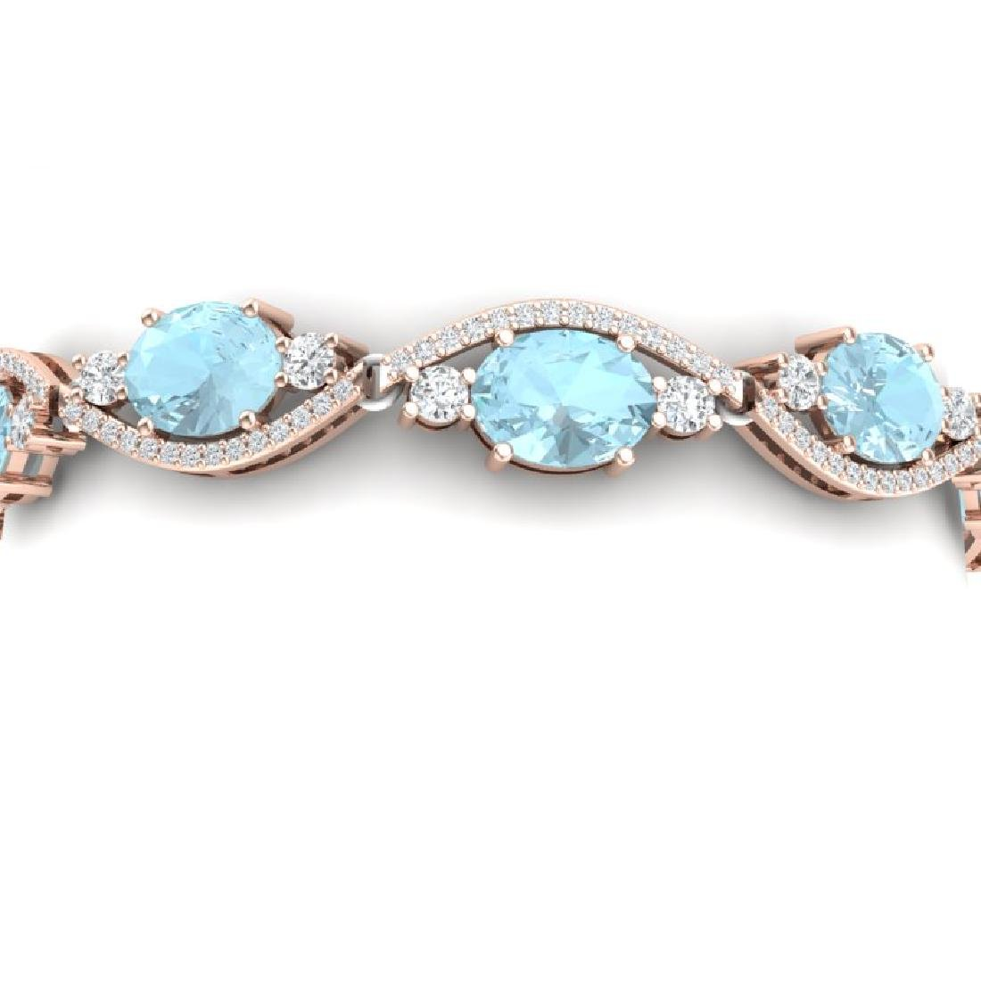 21.6 CTW Royalty Sky Topaz & VS Diamond Bracelet 18K