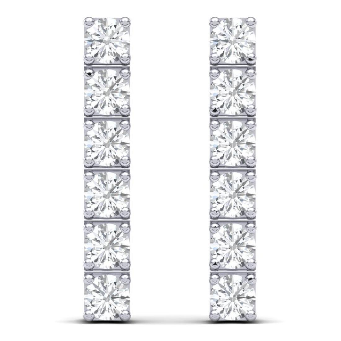 6 CTW Certified SI Diamond Earrings 18K White Gold - 3