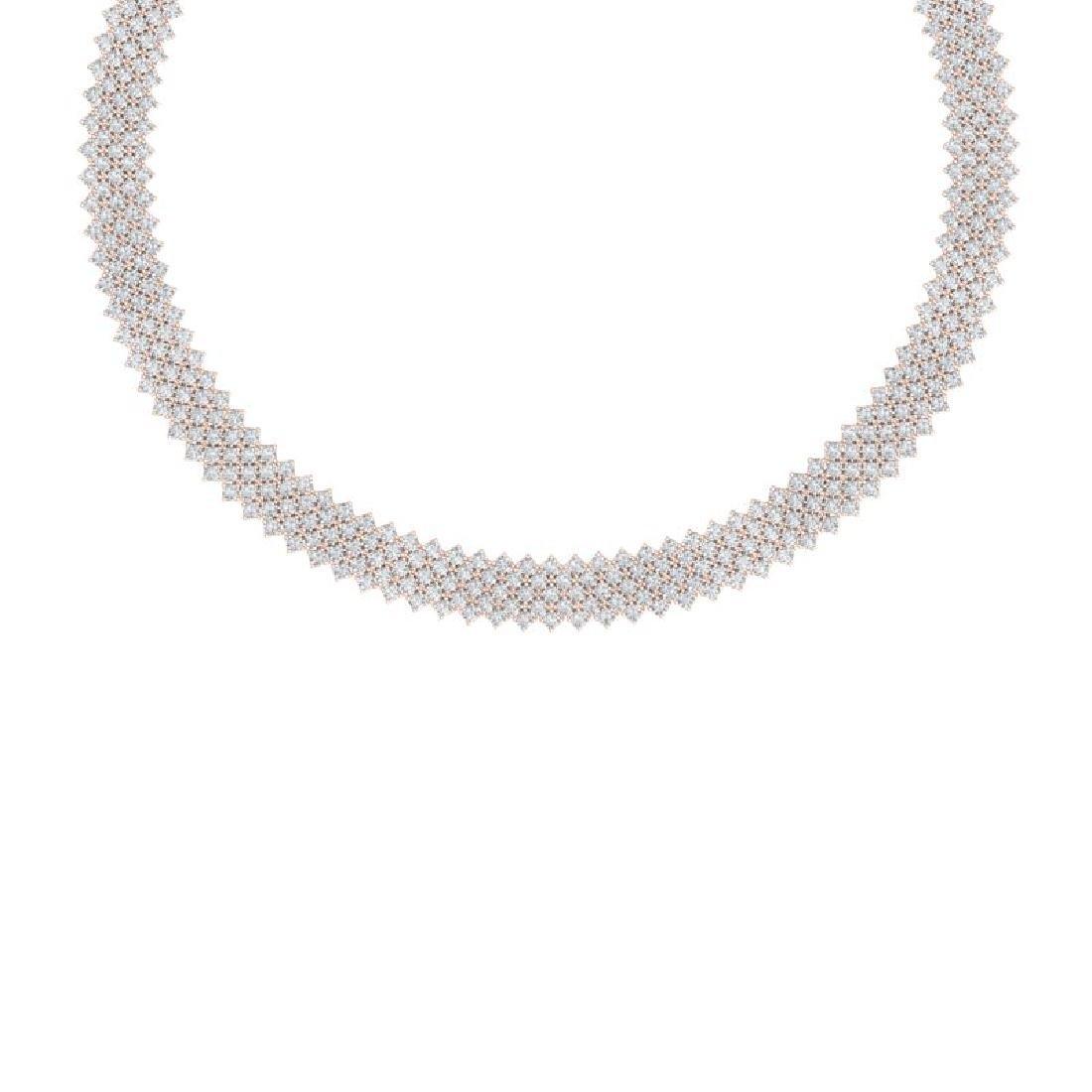 40 CTW Certified VS/SI Diamond Necklace 18K Rose Gold