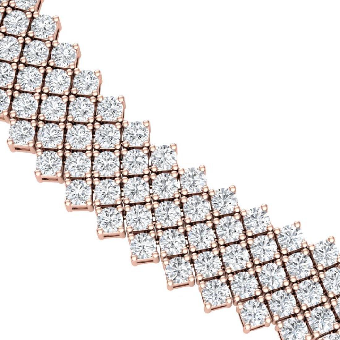 40 CTW Certified VS/SI Diamond Necklace 18K Rose Gold - 2