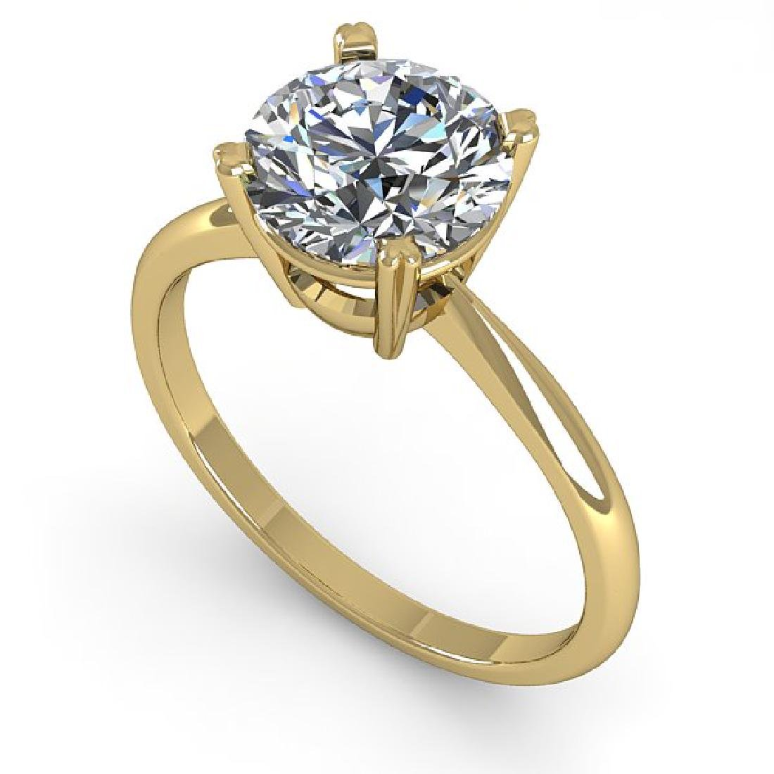 2 CTW Certified VS/SI Diamond Engagement Ring 18K - 2