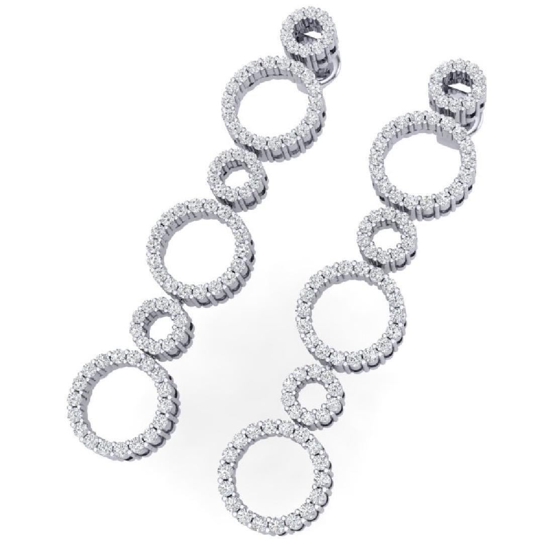 1.50 CTW Certified SI/I Diamond Halo Earrings 18K White