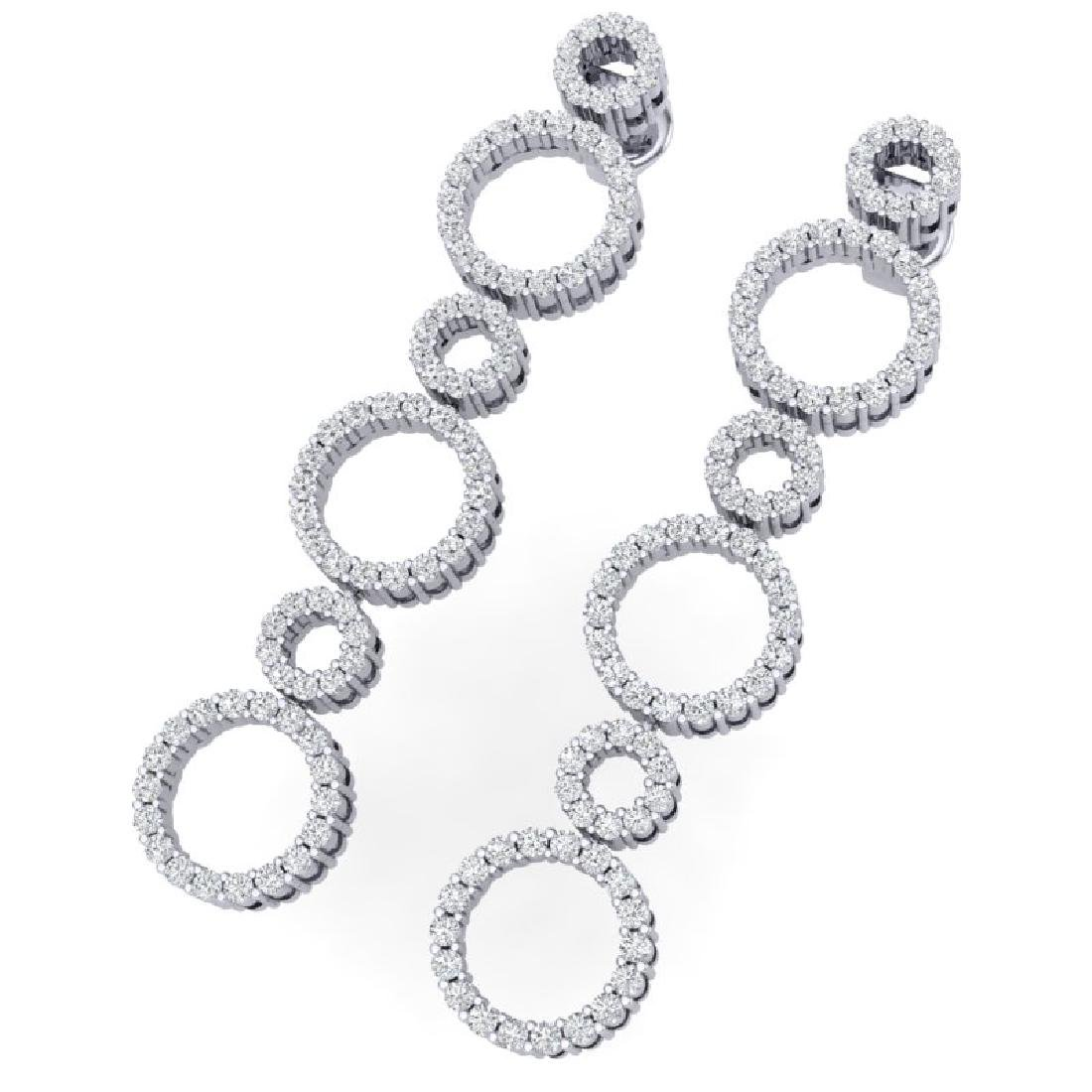 1.50 CTW Certified SI/I Diamond Halo Earrings 18K White