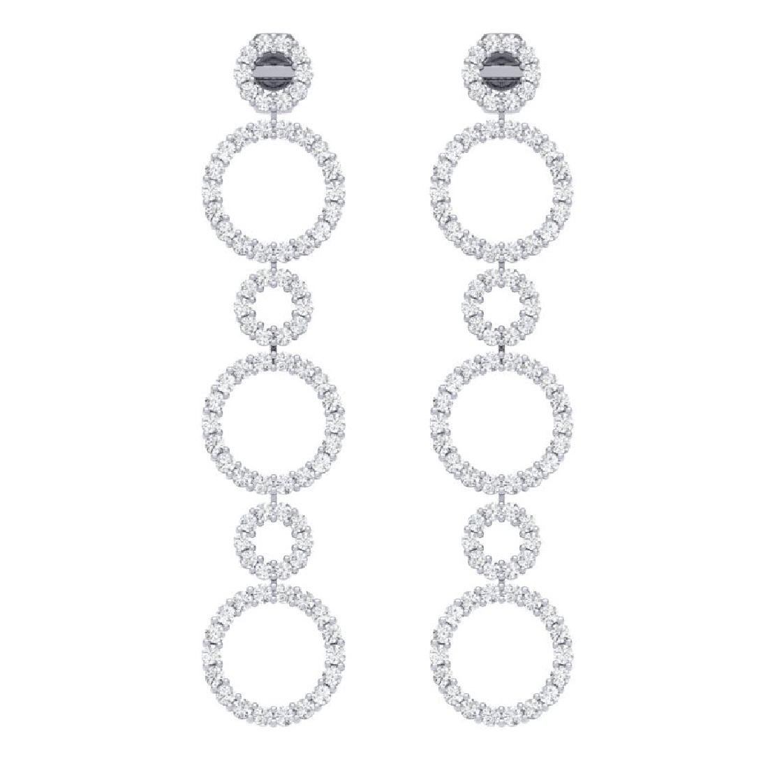 1.50 CTW Certified SI/I Diamond Halo Earrings 18K White - 2