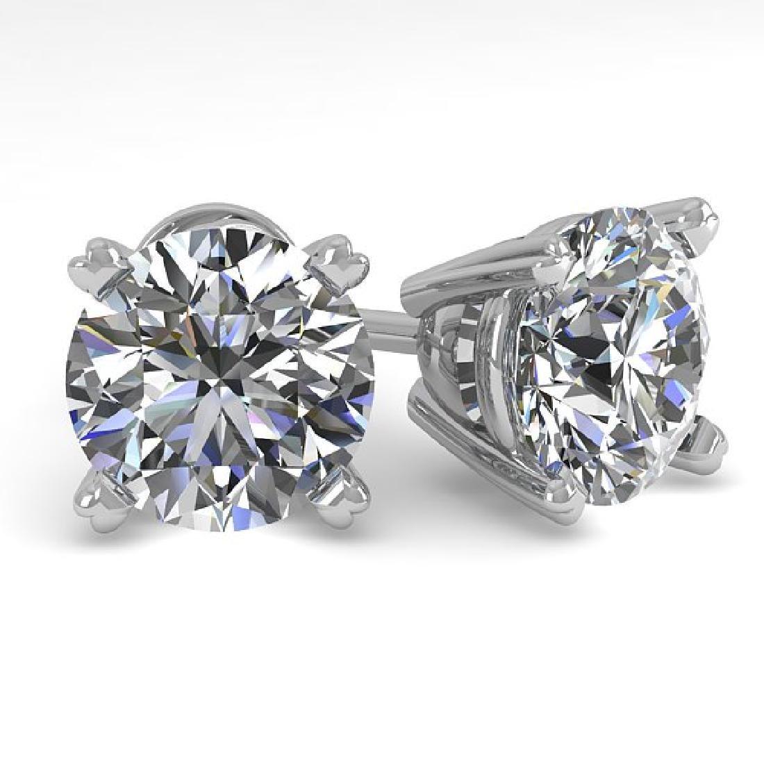 2.50 CTW Certified VS/SI Diamond Stud Earrings 18K