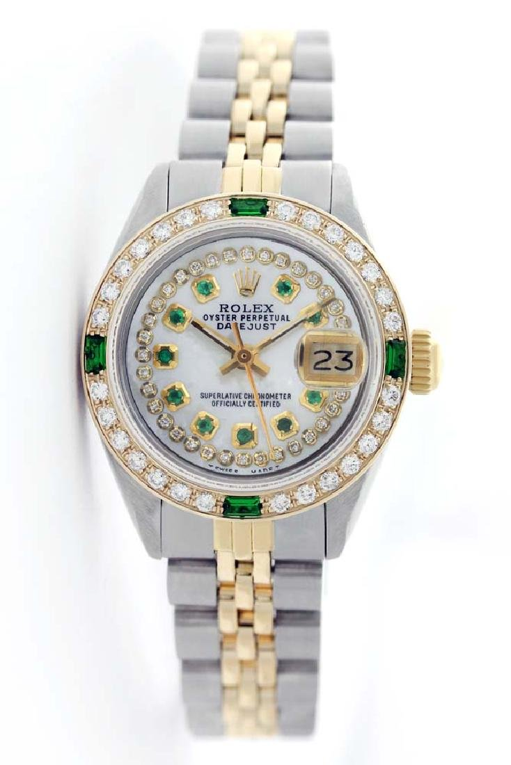 Rolex Ladies Two Tone 14K Gold/SS, Diam/Ruby Dial & - 2