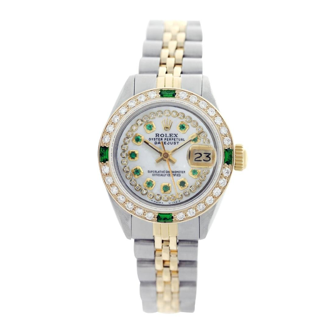 Rolex Ladies Two Tone 14K Gold/SS, Diam/Ruby Dial & - 3