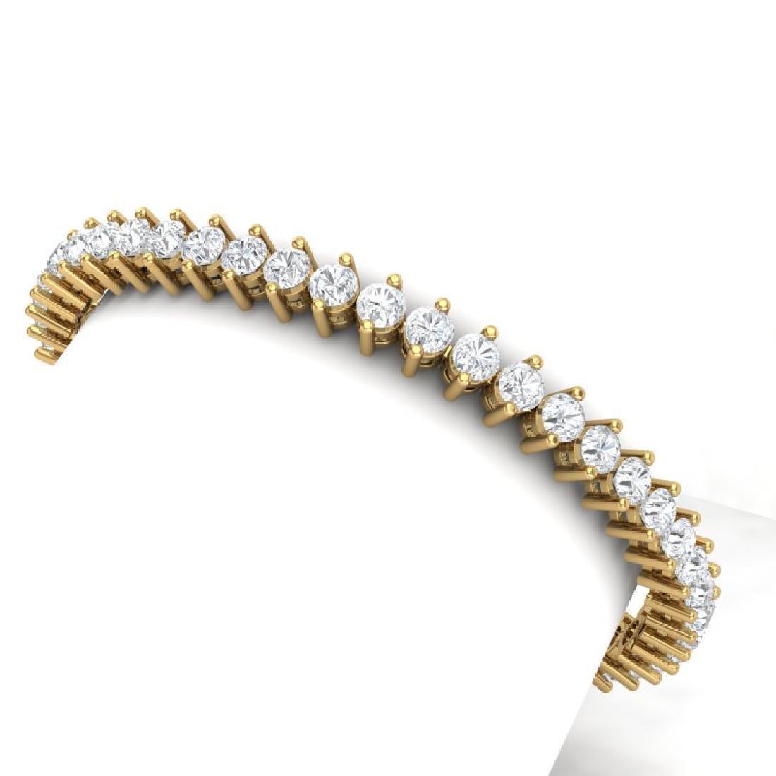 10 CTW Certified VS/SI Diamond Bracelet 18K Yellow Gold
