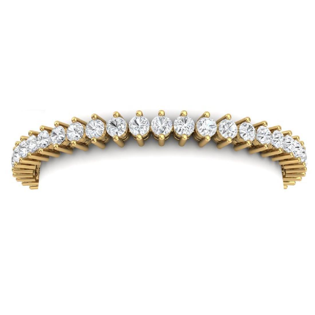 10 CTW Certified VS/SI Diamond Bracelet 18K Yellow Gold - 2