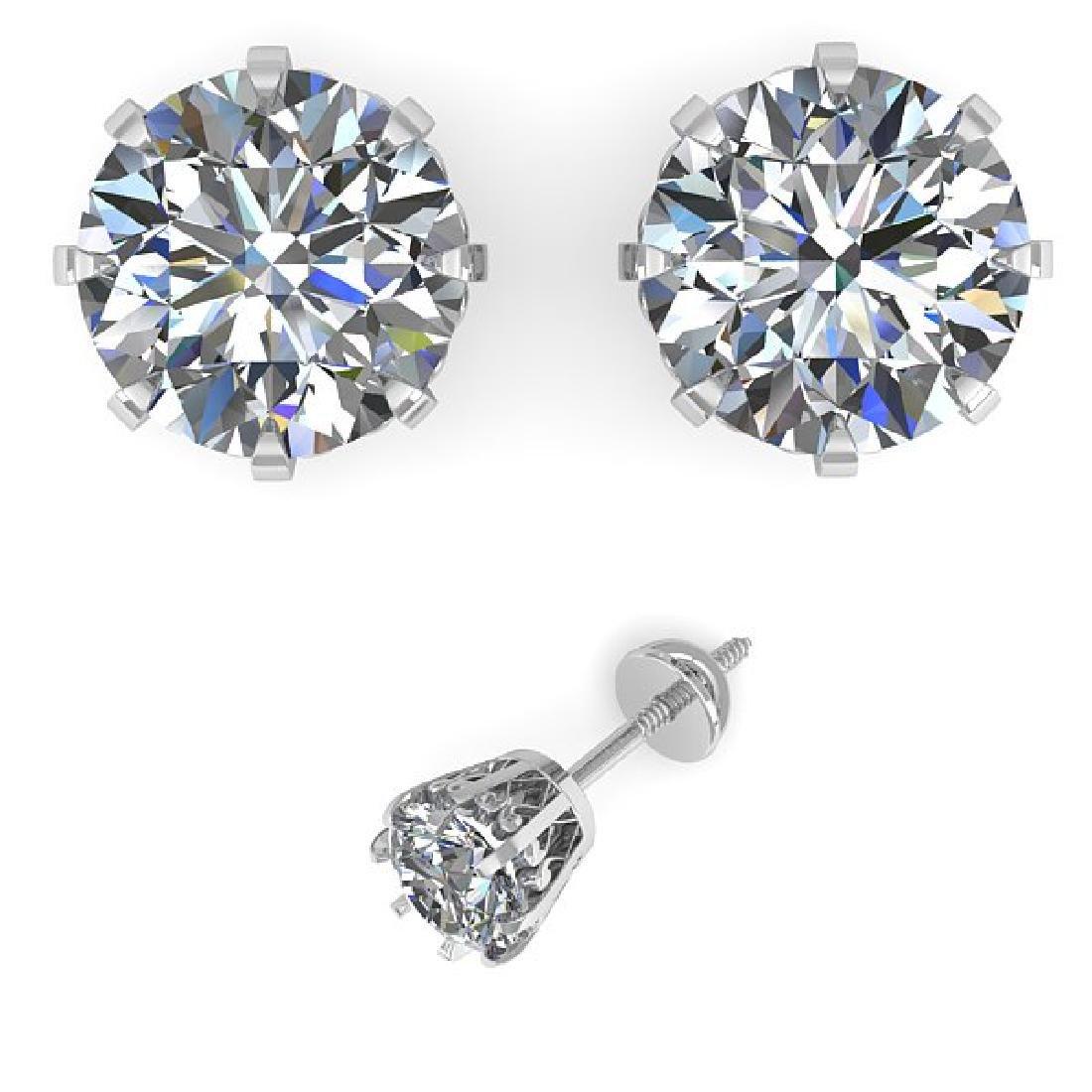 2.50 CTW VS/SI Diamond Stud Solitaire Earrings 18K - 2