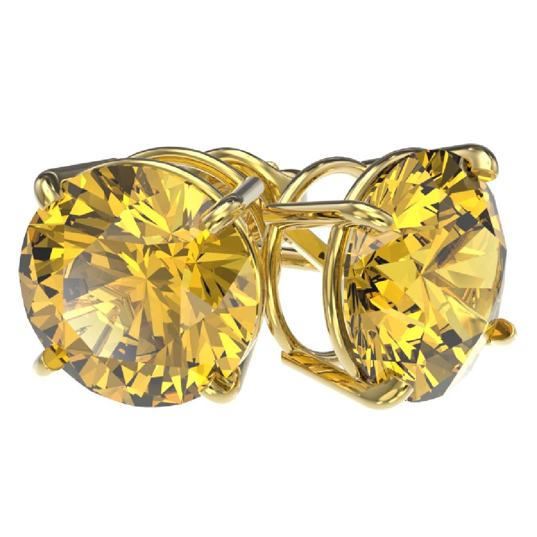 4 CTW Certified Intense Yellow SI Diamond Solitaire - 3