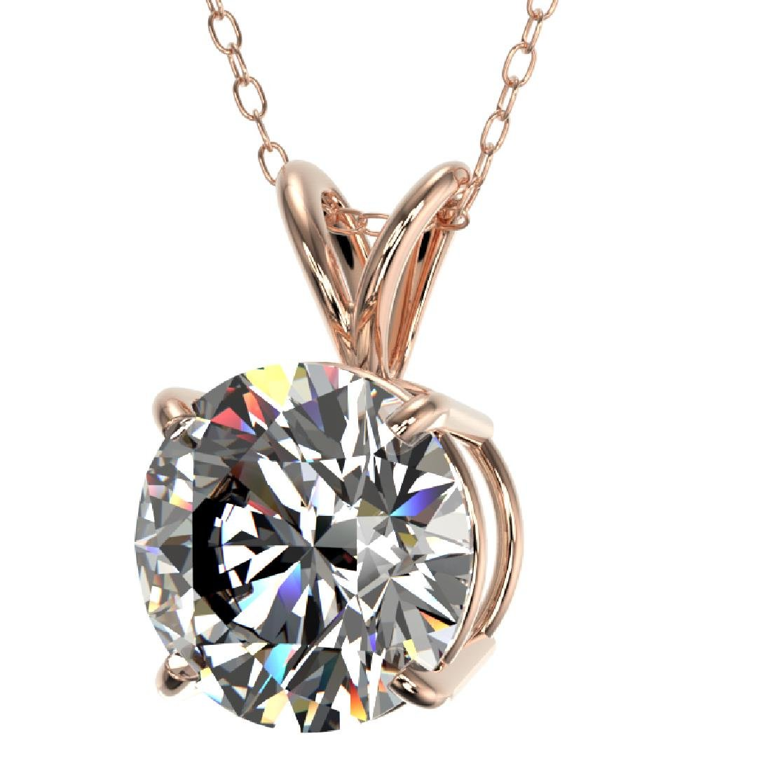 2 CTW Certified G-SI Diamond Bridal Necklace 10K Rose - 2