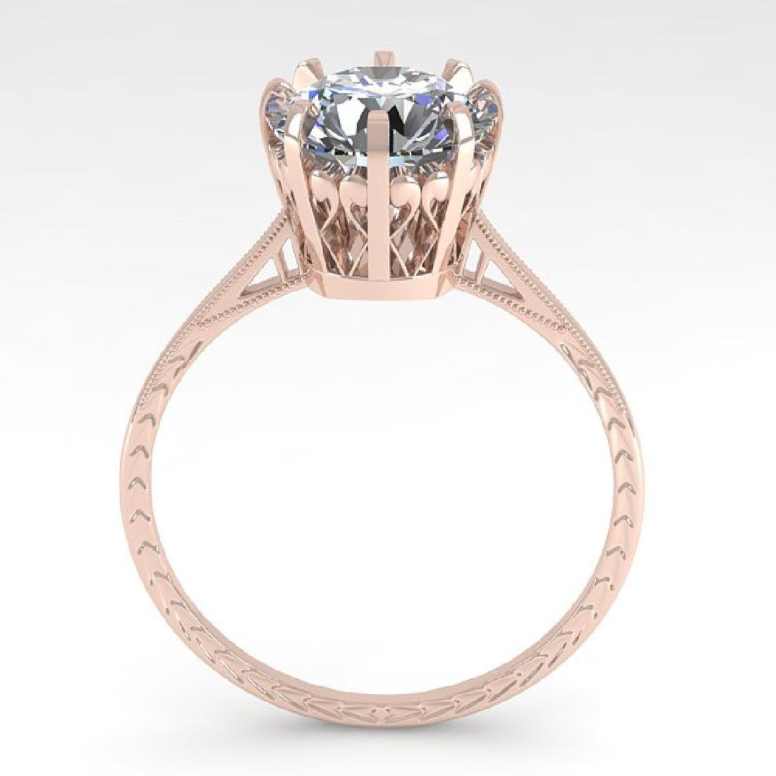 2.03 CTW Certified VS/SI Diamond Engagement Ring 18K - 3