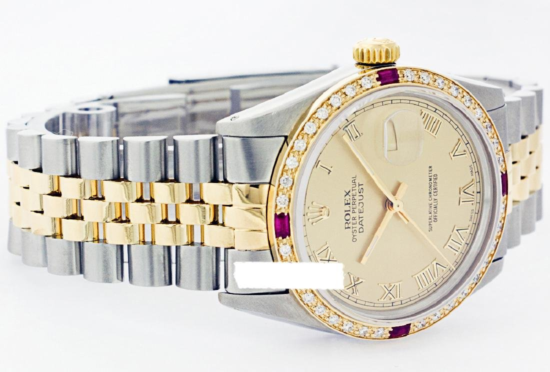 Rolex Ladies Two Tone 14K Gold/SS, Roman Dial & - 2