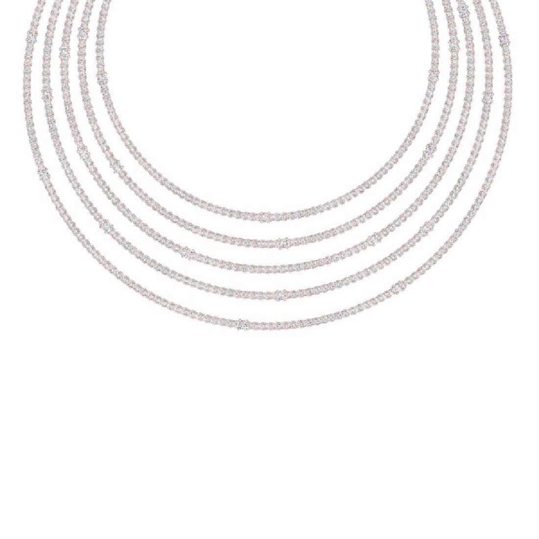 60 CTW Certified VS/SI Diamond Love Necklace 18K Rose