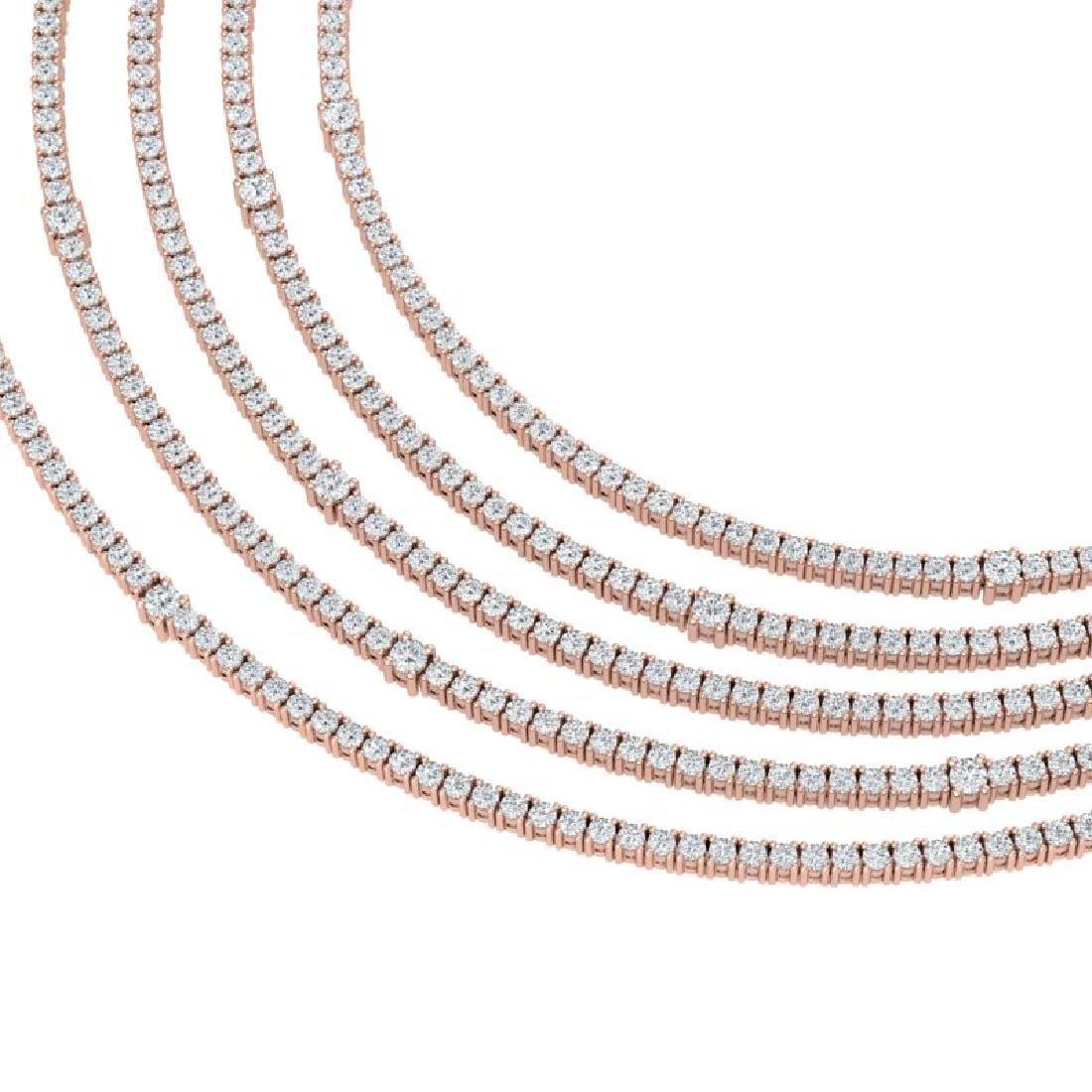 60 CTW Certified VS/SI Diamond Love Necklace 18K Rose - 2