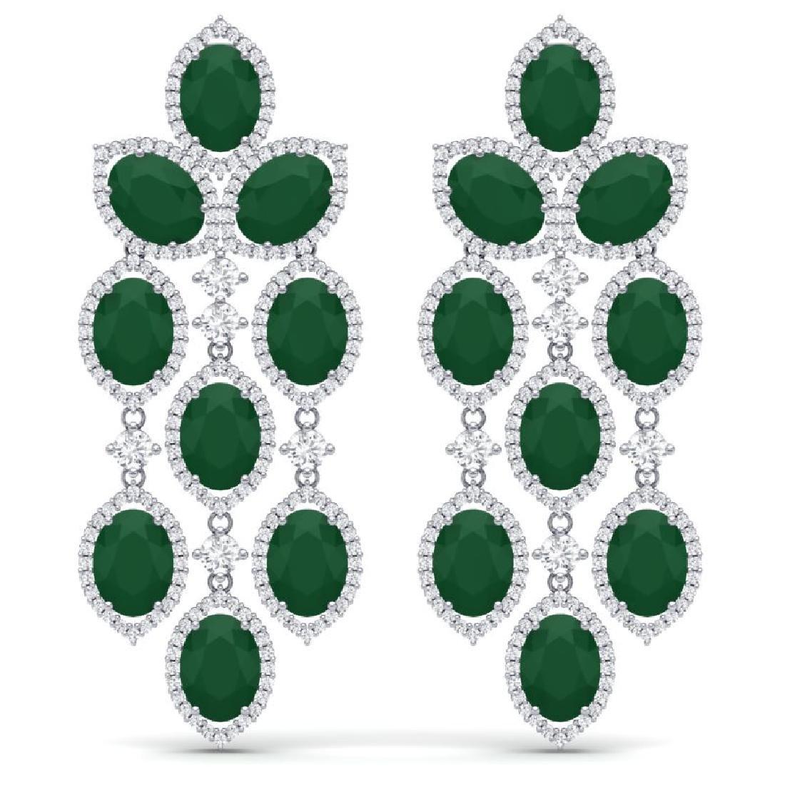 26.15 CTW Royalty Emerald & VS Diamond Earrings 18K