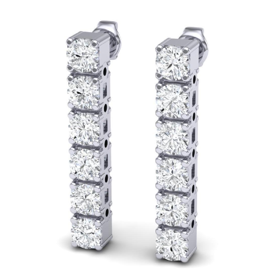 3 CTW Certified VS/SI Diamond Earrings 18K White Gold - 2