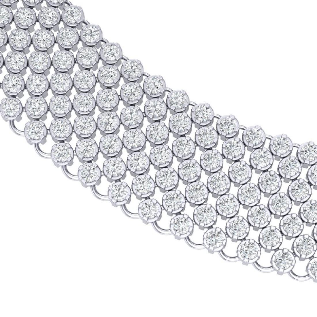 35 CTW Certified VS/SI Diamond Necklace 18K White Gold