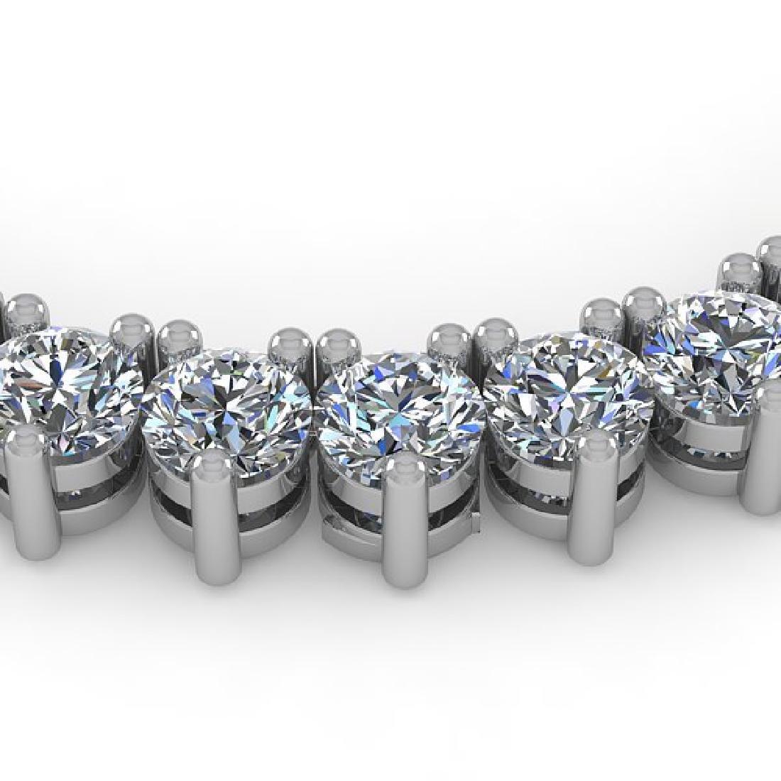 53 CTW Solitaire SI Diamond Necklace 18K White Gold