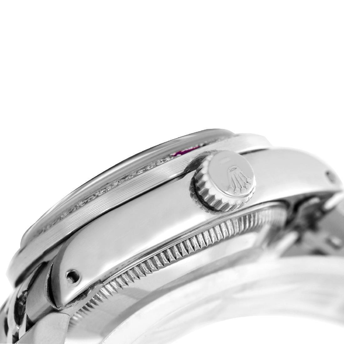 Rolex Ladies Stainless Steel, Diam/Ruby Dial & - 4