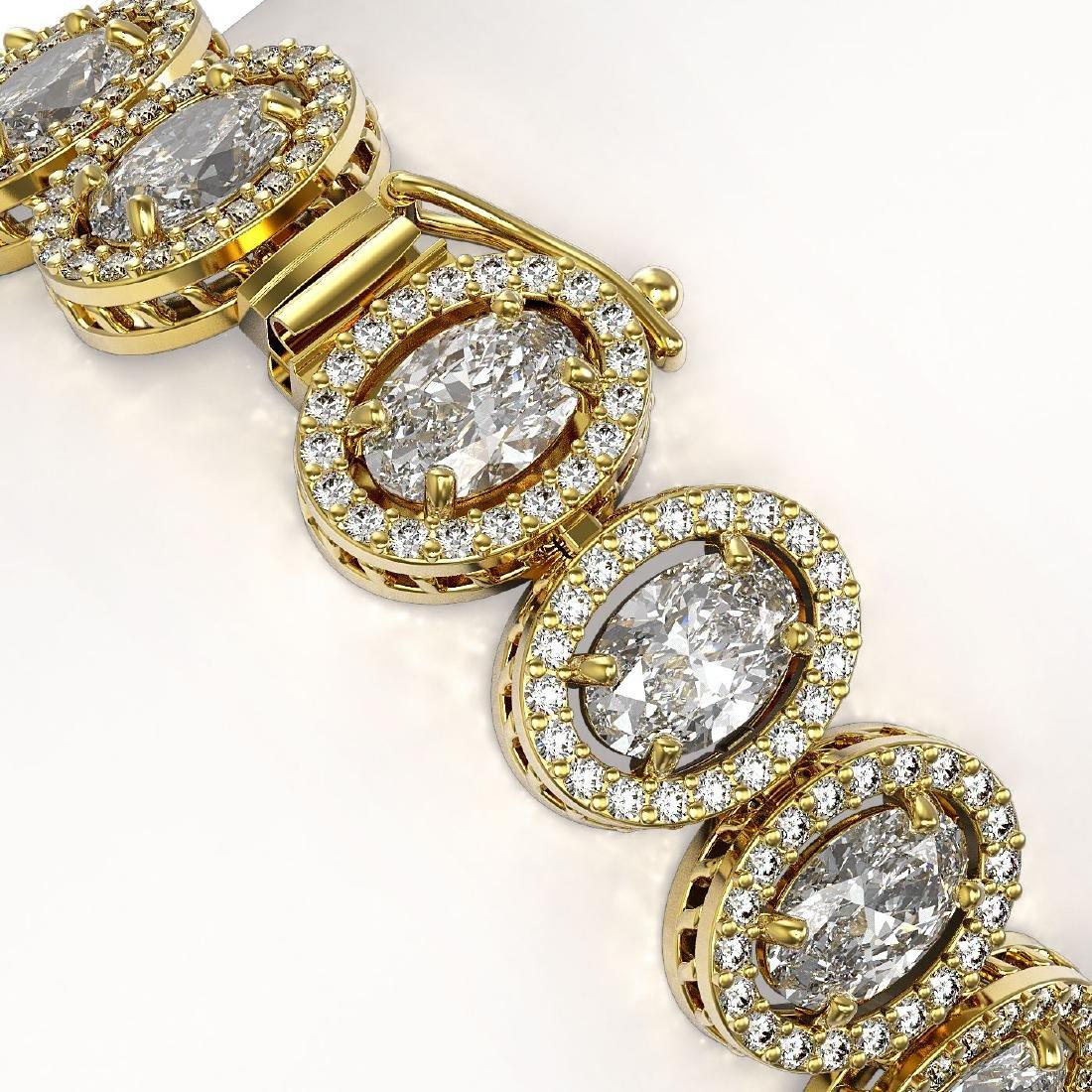 18.8 CTW Oval Diamond Designer Bracelet 18K Yellow Gold - 3