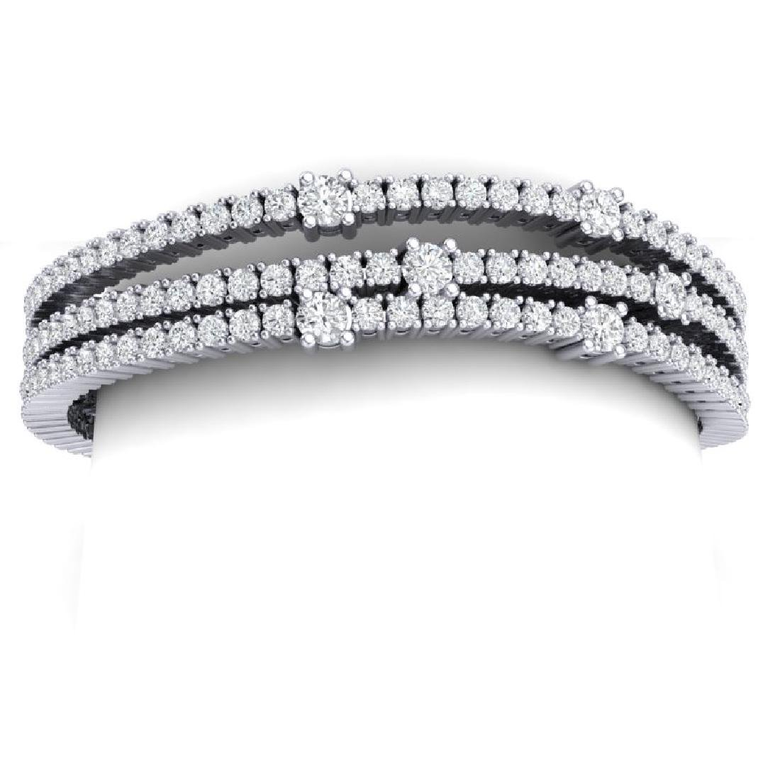 15 CTW Certified VS/SI Diamond Love Bracelet 18K White