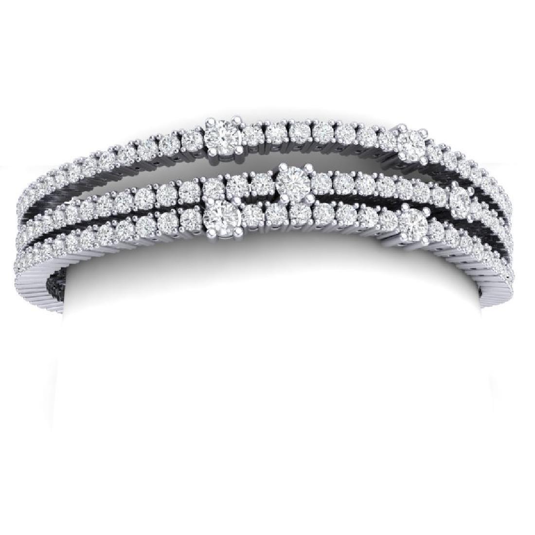 15 CTW Certified VS/SI Diamond Love Bracelet 18K White