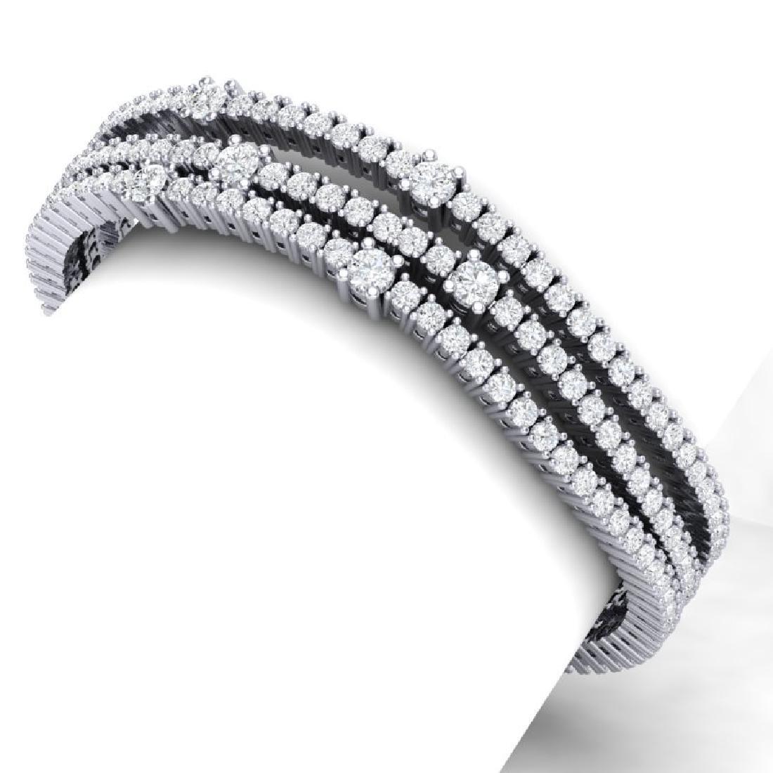 15 CTW Certified VS/SI Diamond Love Bracelet 18K White - 2