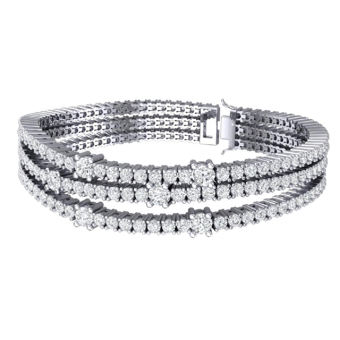 15 CTW Certified VS/SI Diamond Love Bracelet 18K White - 3