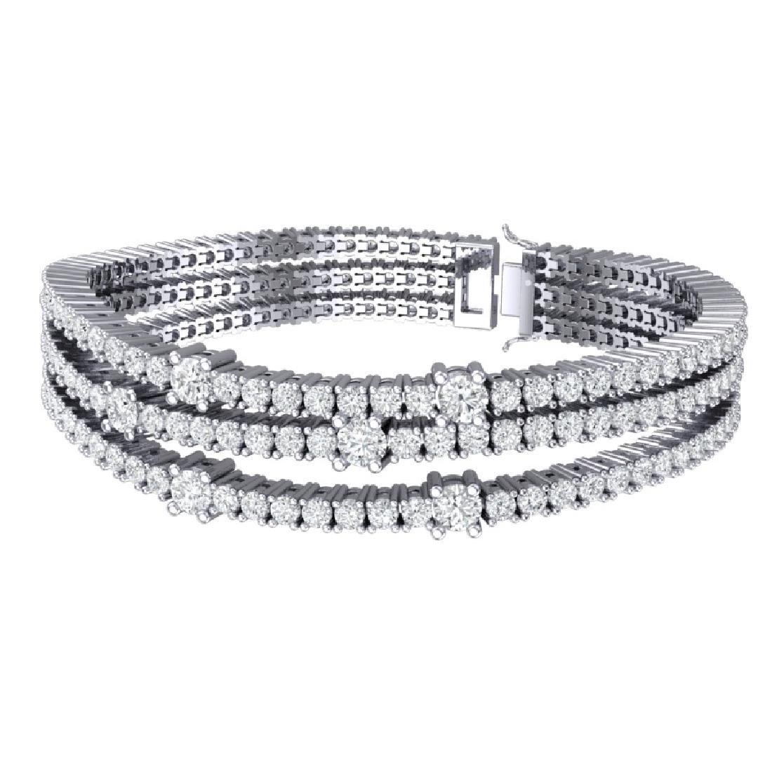 15 CTW Certified VS/SI Diamond Love Bracelet 18K White - 3