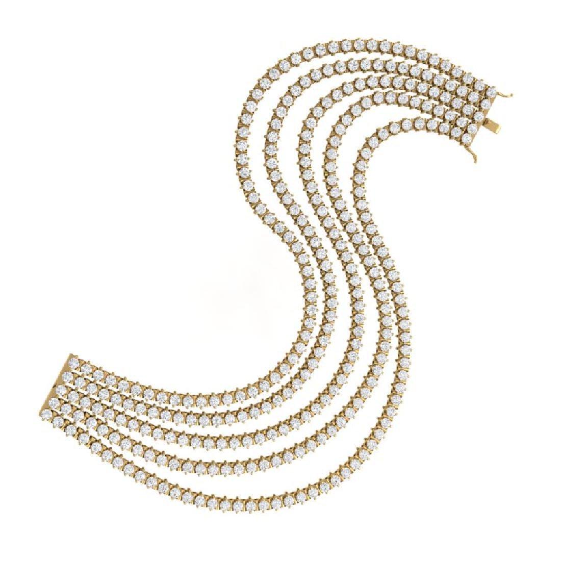 20 CTW Certified SI/I Diamond 2 Prong Bracelet 18K