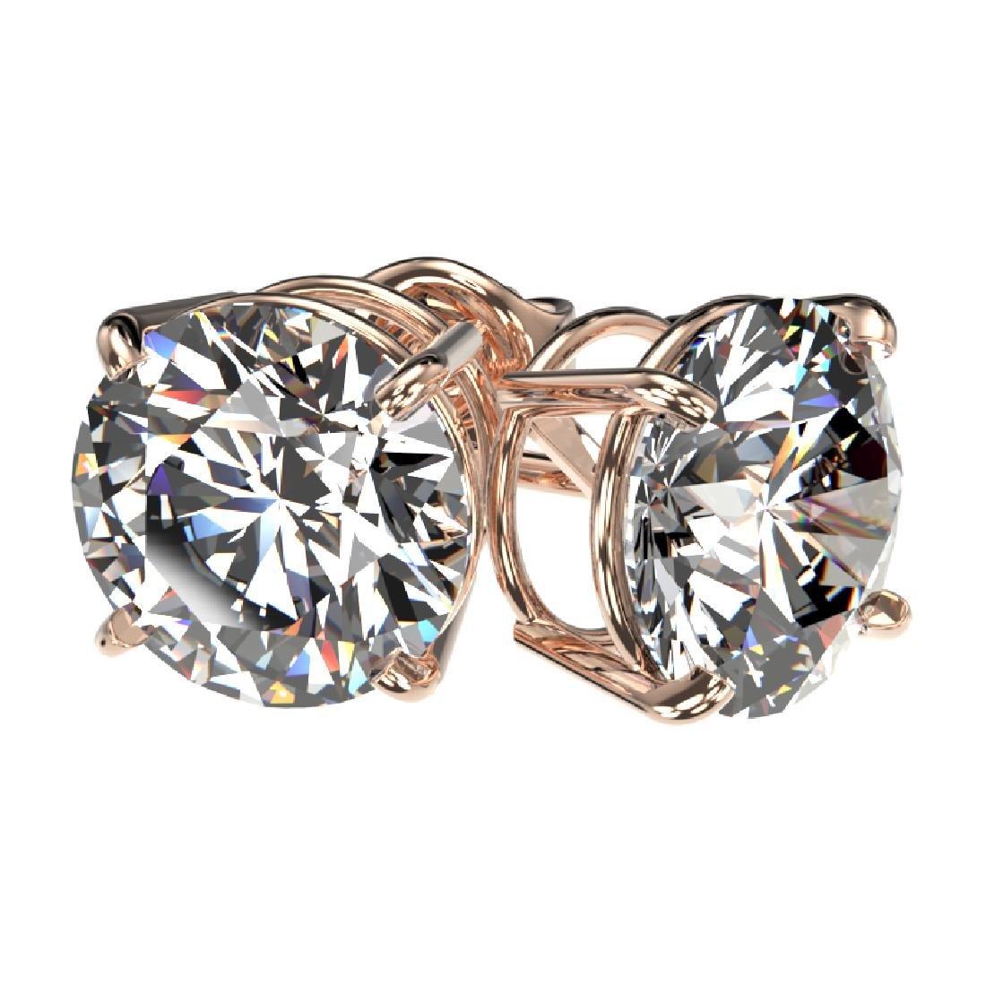 3.05 CTW Certified H-I Quality Diamond Stud Earrings - 3