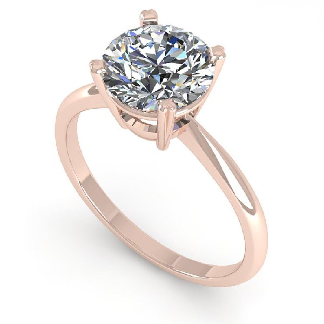 2 CTW Certified VS/SI Diamond Engagement Ring 18K Rose - 2