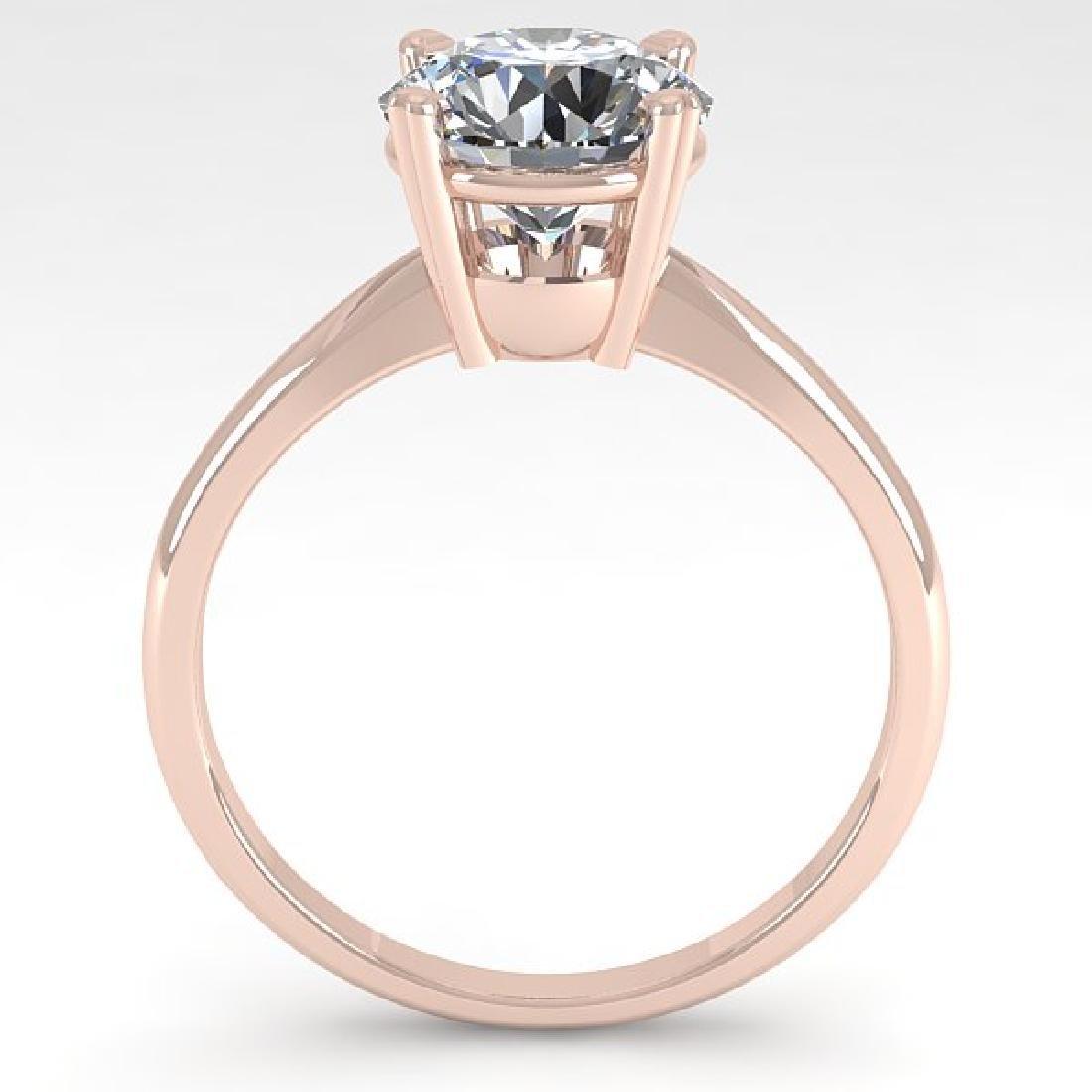 2 CTW Certified VS/SI Diamond Engagement Ring 18K Rose - 3
