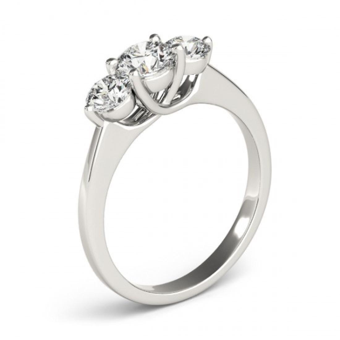 3 CTW Certified VS/SI Diamond 3 Stone Bridal Ring 14K - 3