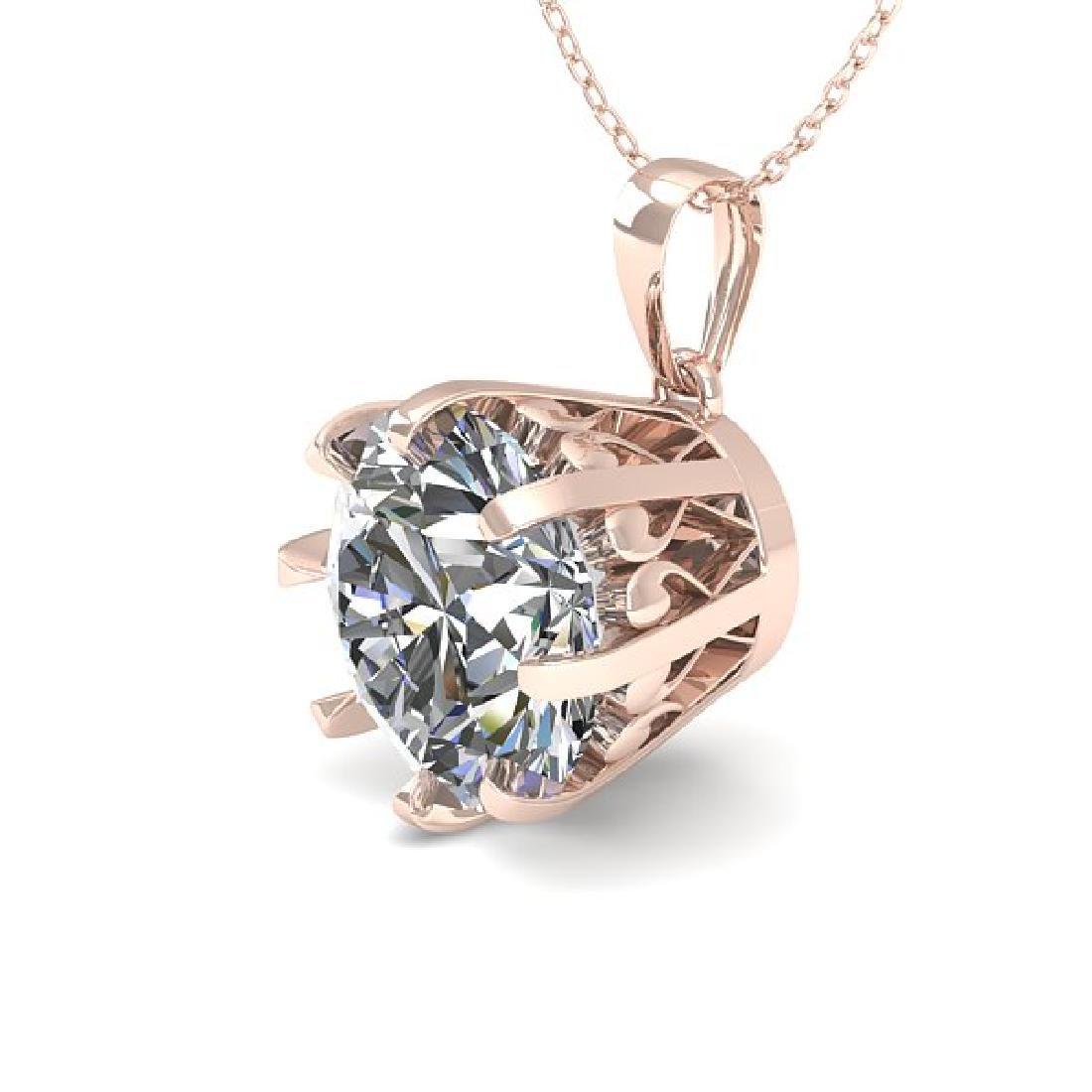 2 CTW VS/SI Diamond Solitaire Necklace 18K Rose Gold