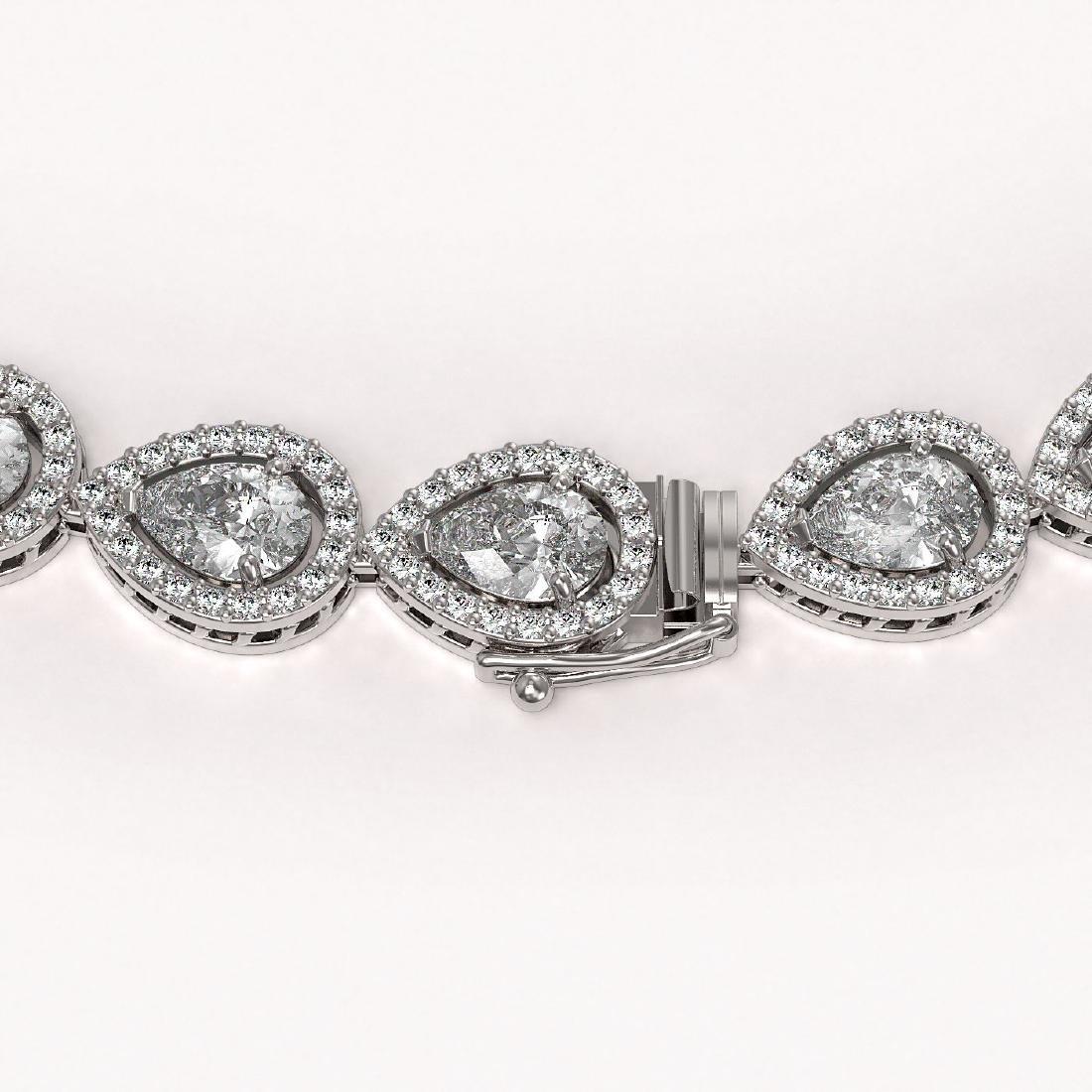 33.08 CTW Pear Diamond Designer Necklace 18K White Gold - 3