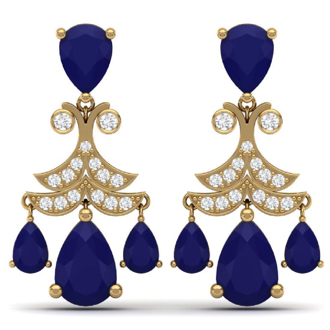 11.97 CTW Royalty Sapphire & VS Diamond Earrings 18K