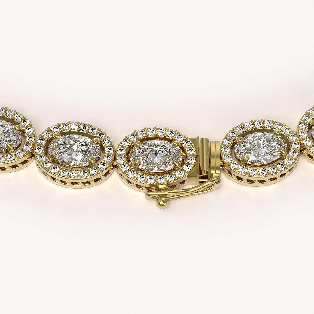 34.96 CTW Oval Diamond Designer Necklace 18K Yellow - 2