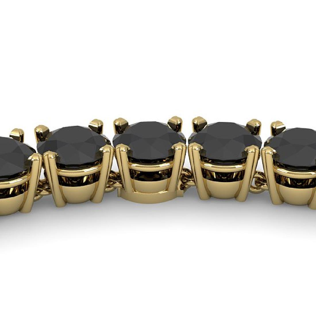 40 CTW Certified Black VS Diamond Necklace 18K Yellow